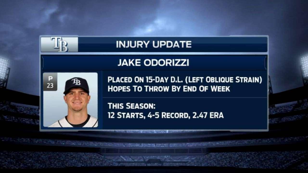 Oblique strain puts Odorizzi on DL