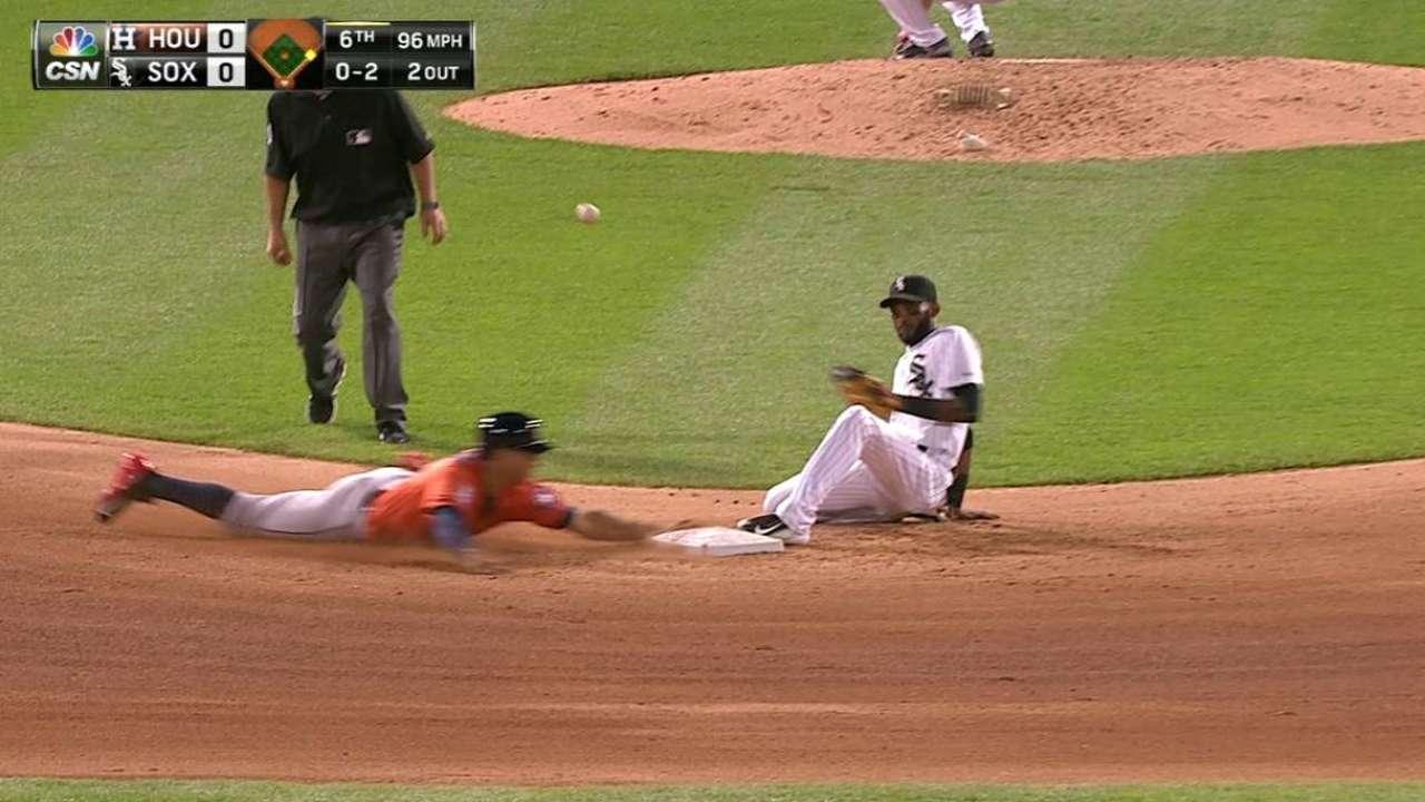 Correa's first stolen base
