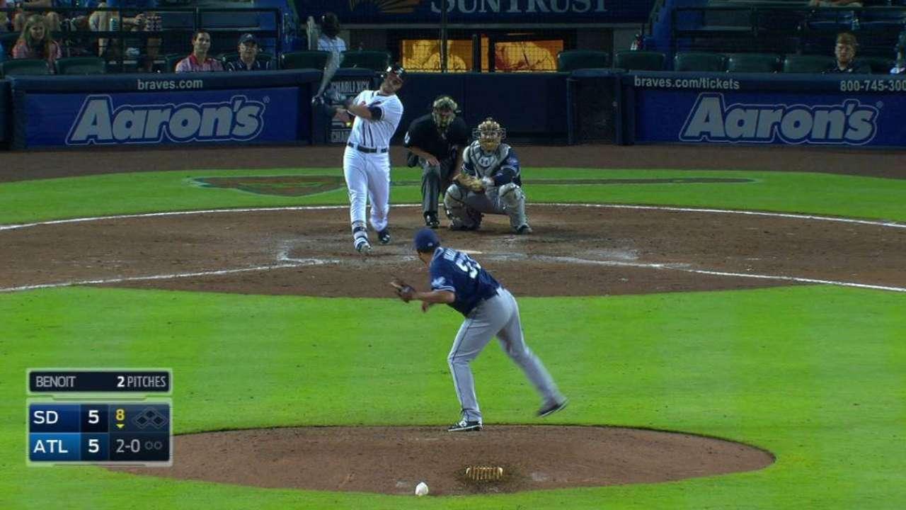 Terdoslavich's 1st MLB homer downs Padres