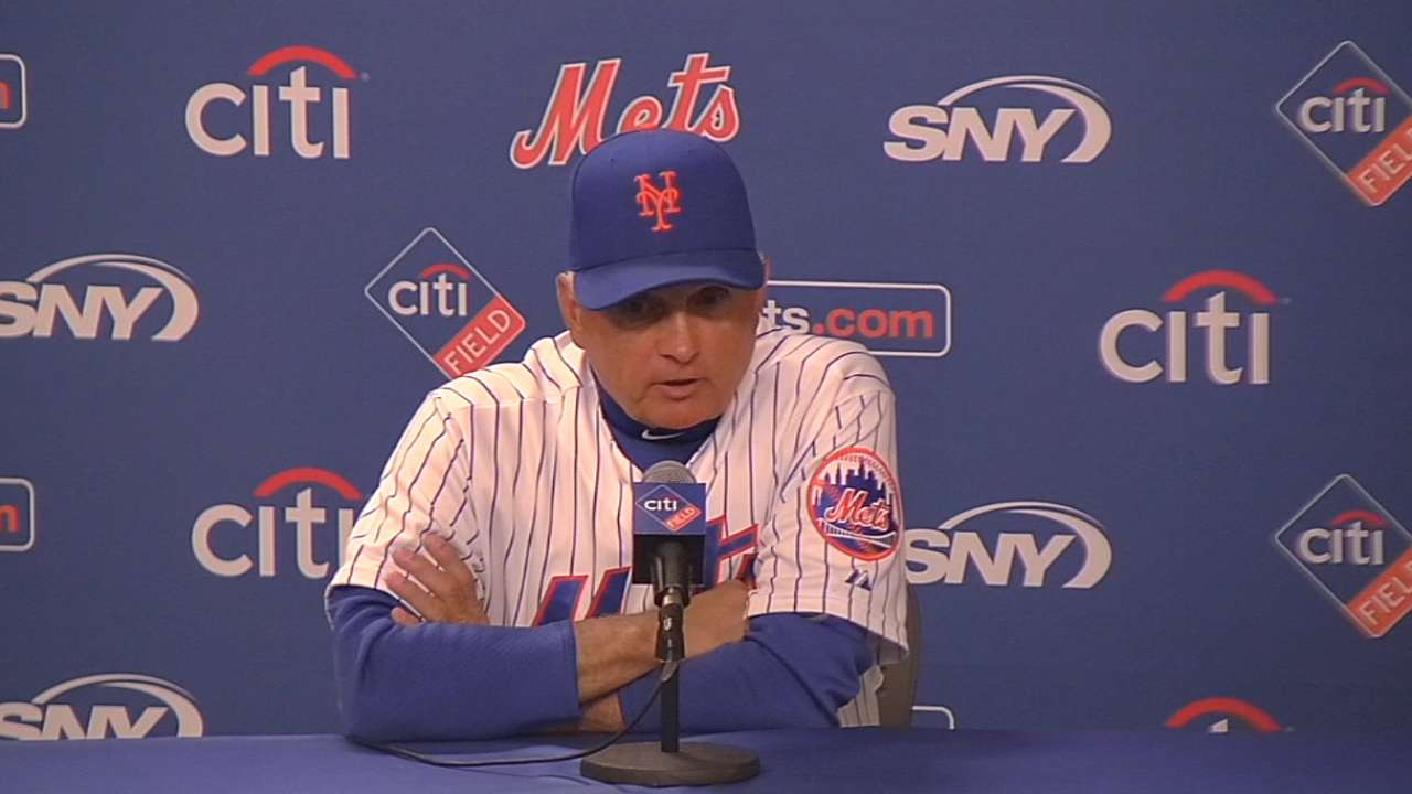 Collins on Mets getting no-hit