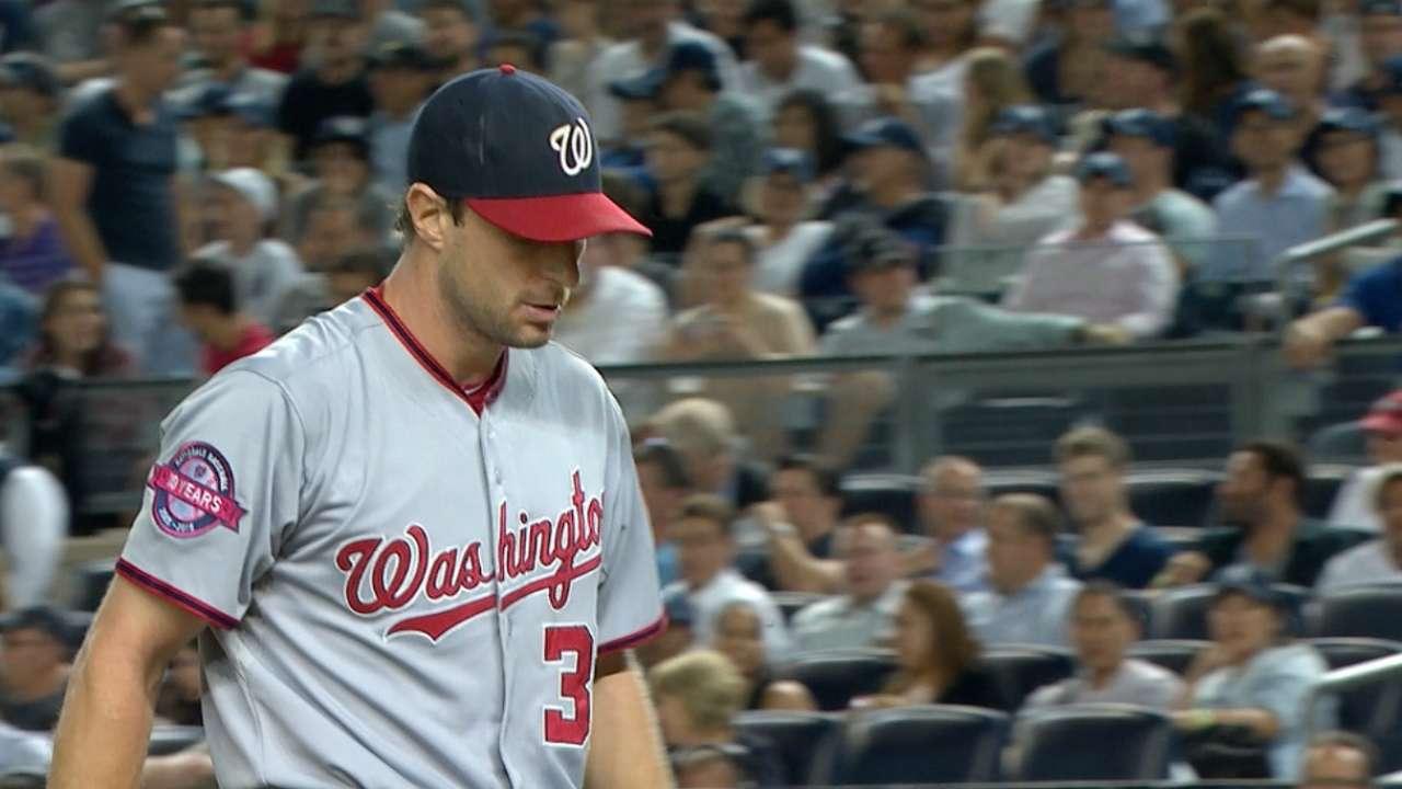 Scherzer's seven strikeouts
