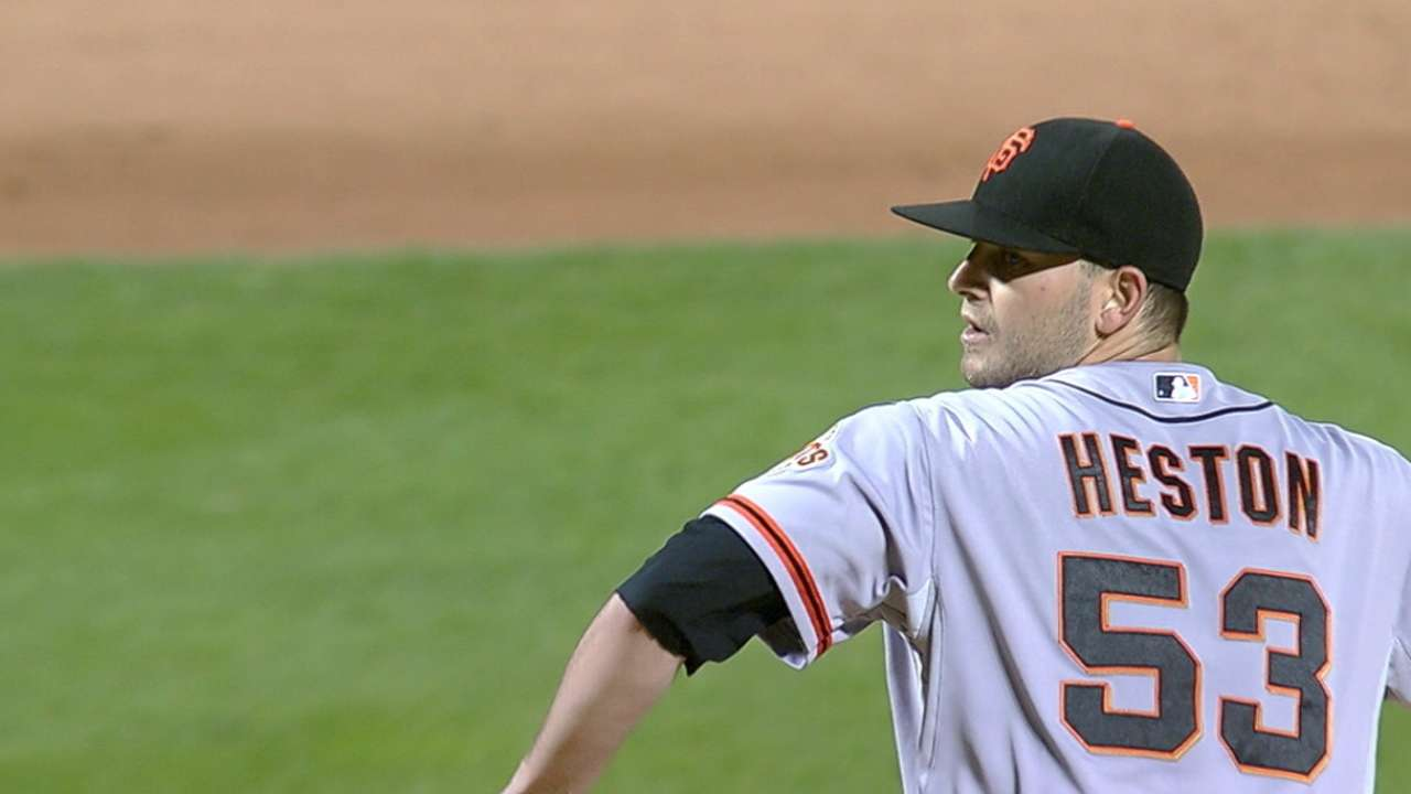 Heston throws 2015's first no-no