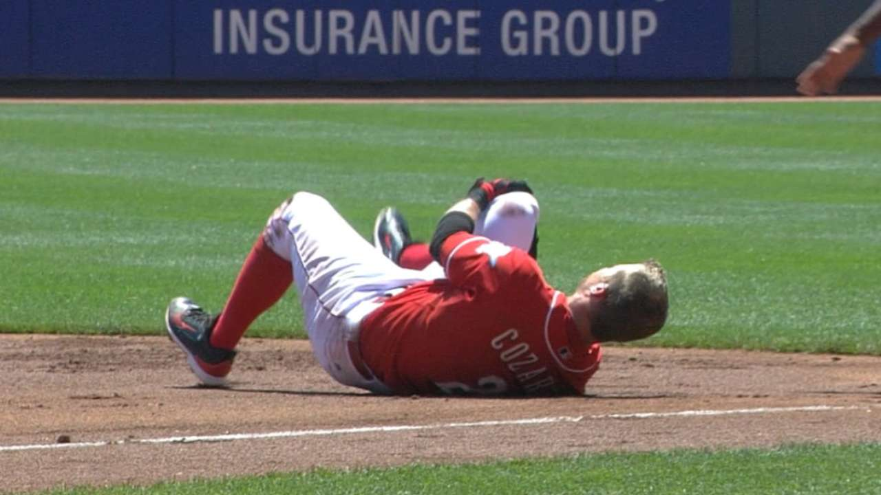 Cozart likely headed to DL with knee injury
