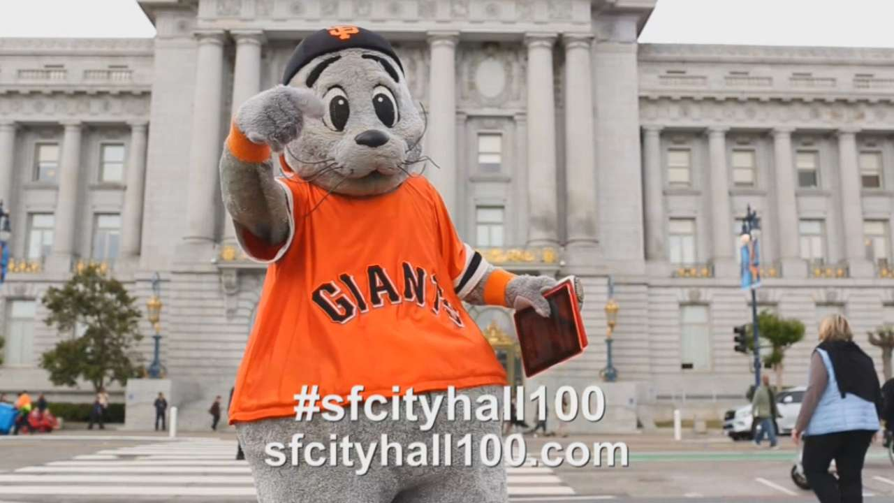 Giants to celebrate City Hall's 100th birthday