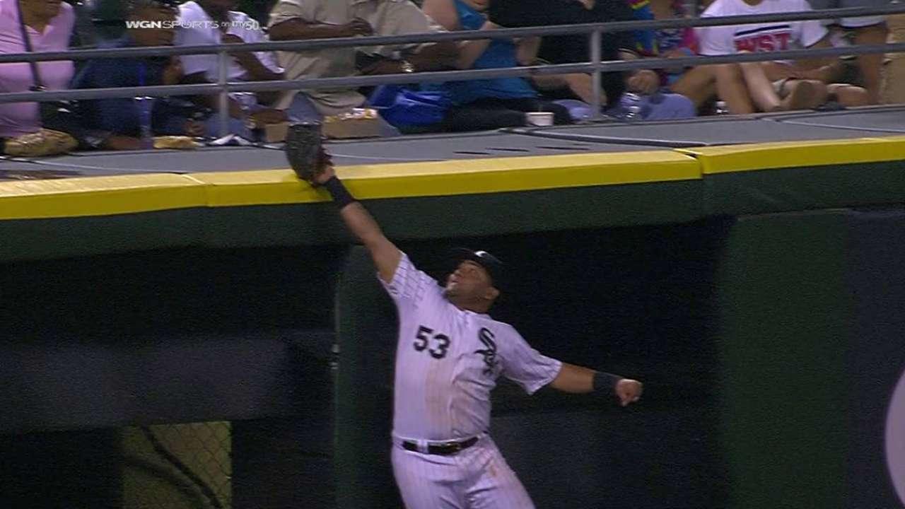 Cabrera robs Tucker of a hit