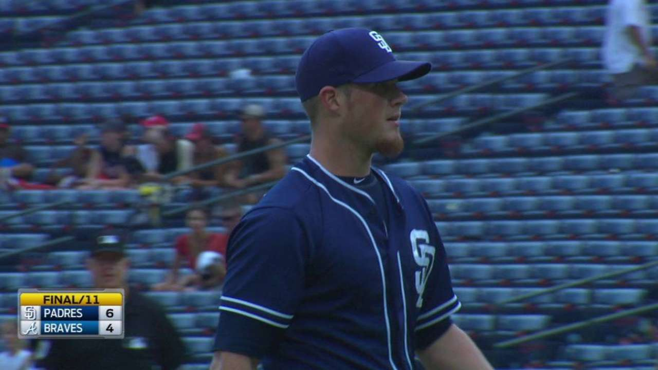 Fine relief closes Padres' trip on a high note