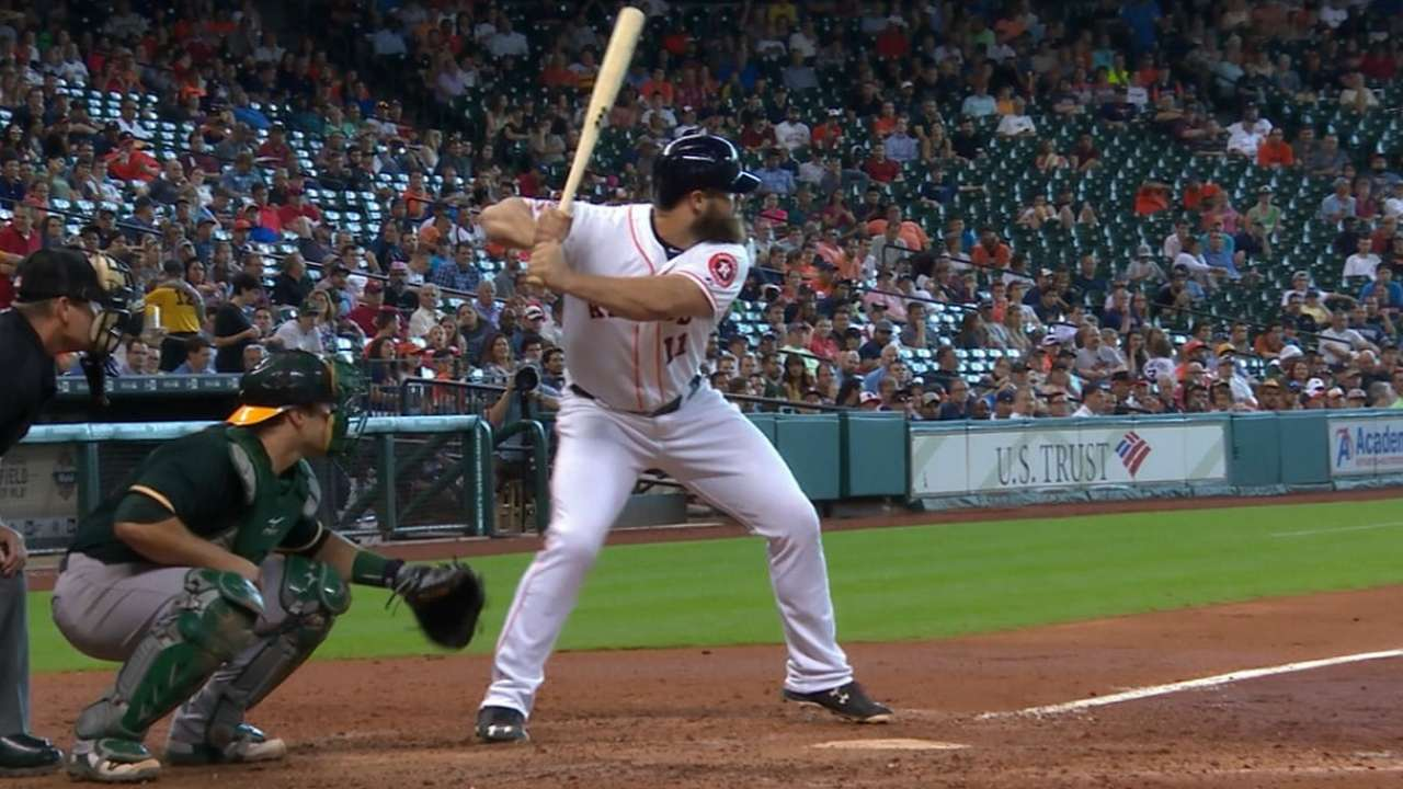 Gattis rewards Astros' faith with power display
