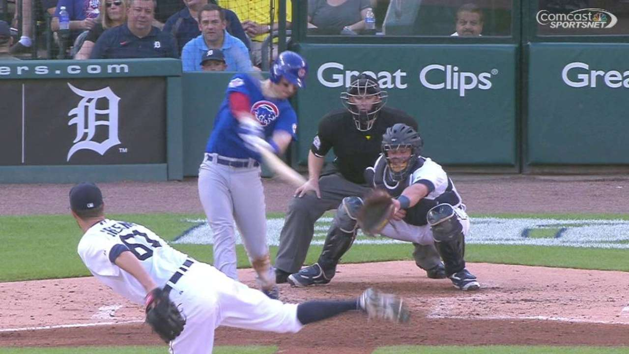 Cubs pounce for season-high 12 runs, rout Tigers