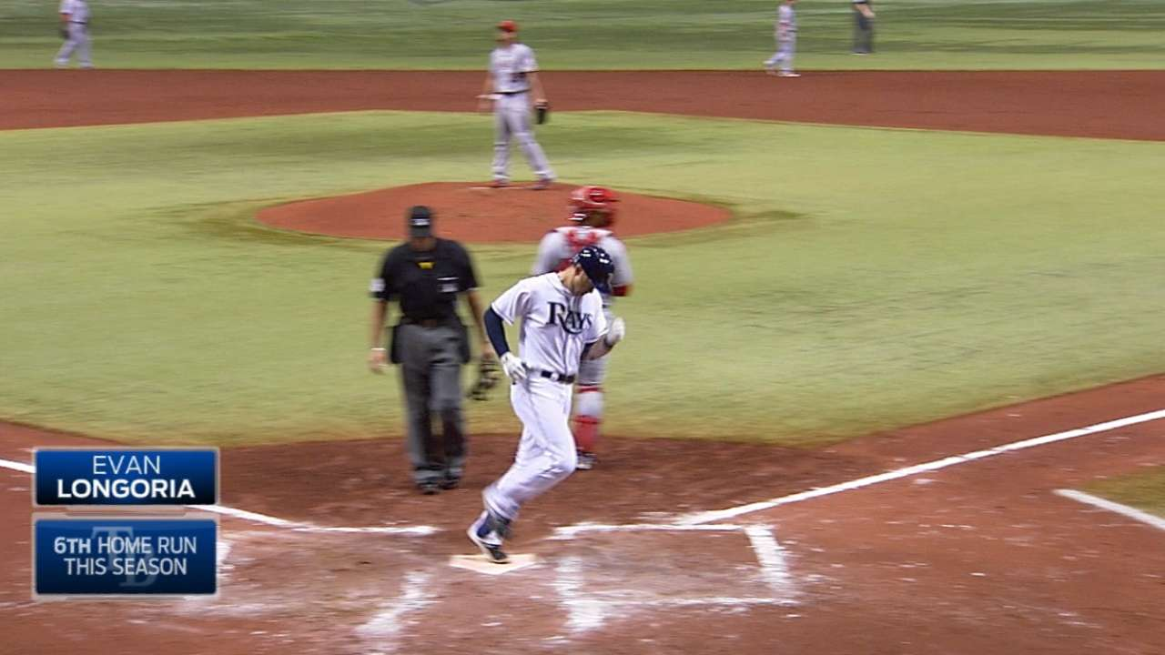 Longoria's long ball carries Rays past Angels