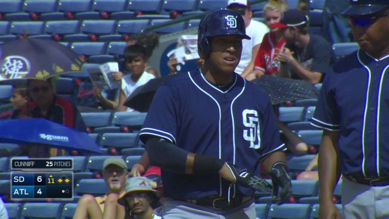 Resilient Padres take wild one in 11 at Atlanta