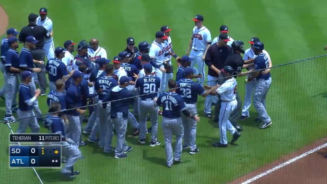 MLB Tonight on benches clearing