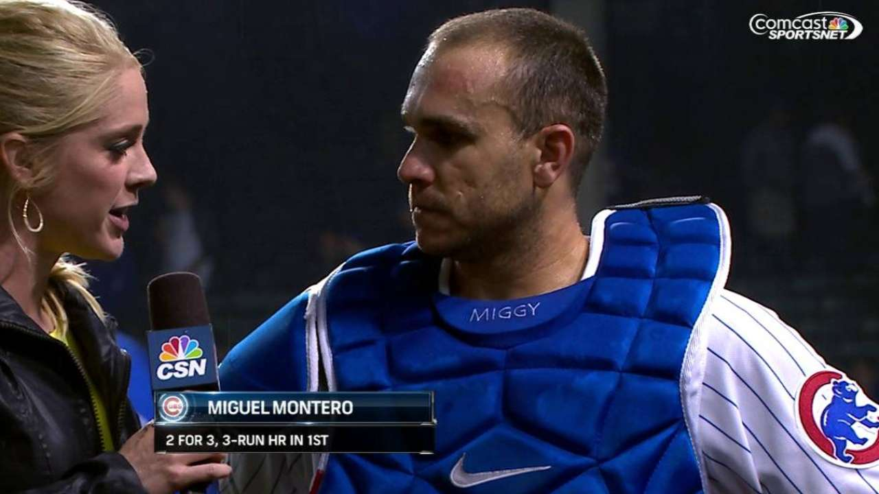 Montero taking aggressive approach at plate