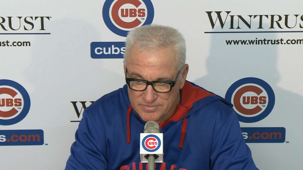 Maddon pushing buttons to harden Cubs