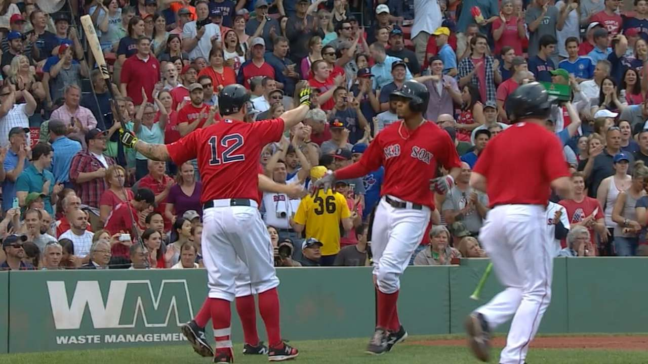Red Sox tally five runs in 1st