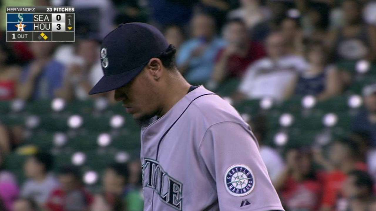 Felix unable to get out of first in tough outing