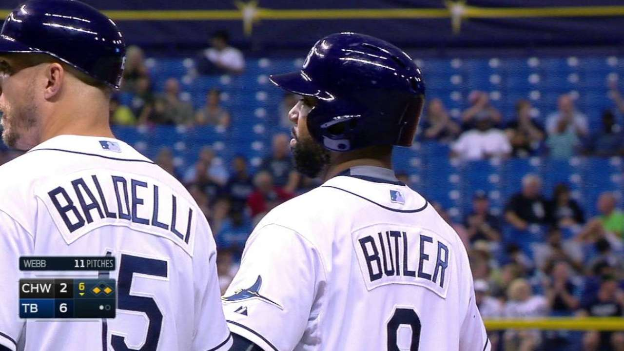 Butler's RBI bloop single