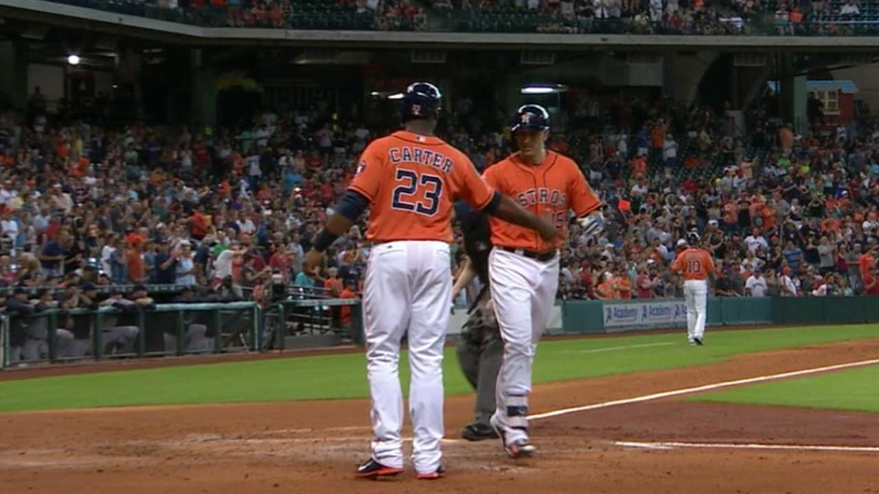 Astros provide overdue outburst in 8-run first
