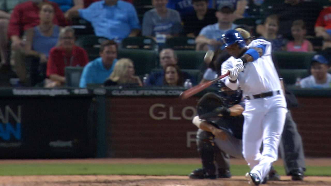 Andrus produces big hits from five-hole
