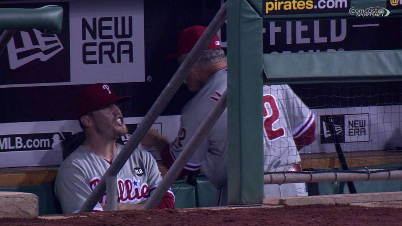 Giles, Sandberg resolve issues after dugout exchange