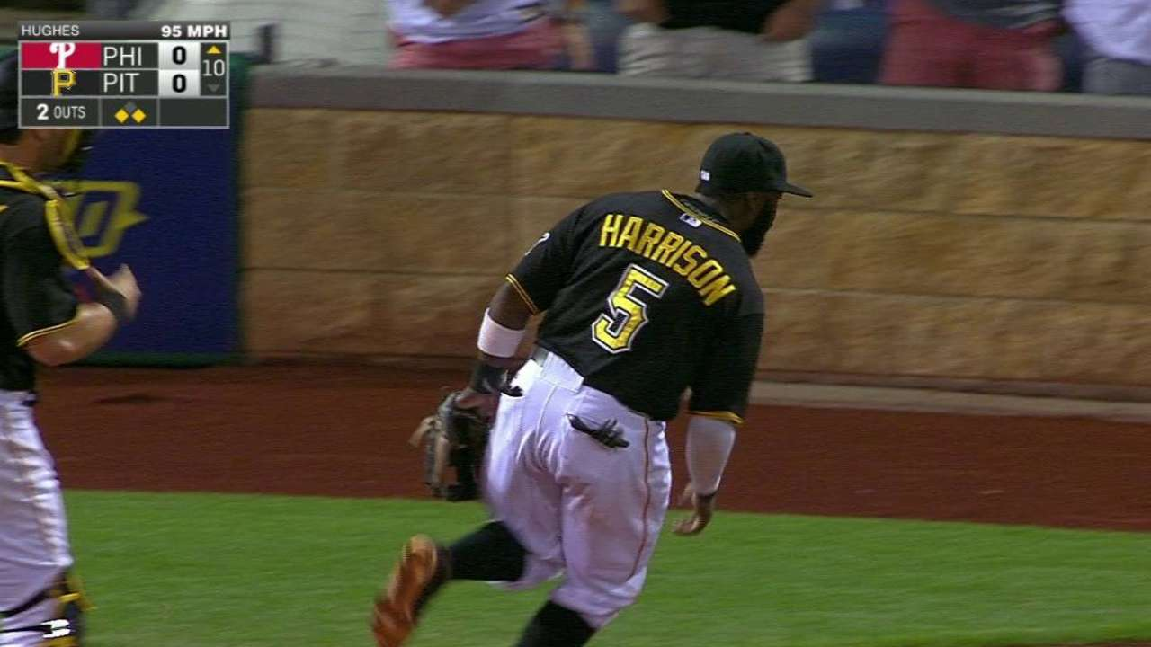 Harrison's run-saving play