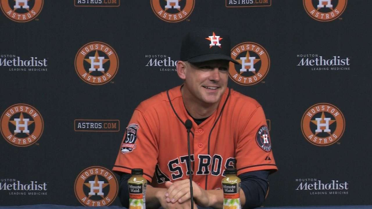Hinch on Astros' 10-0 win