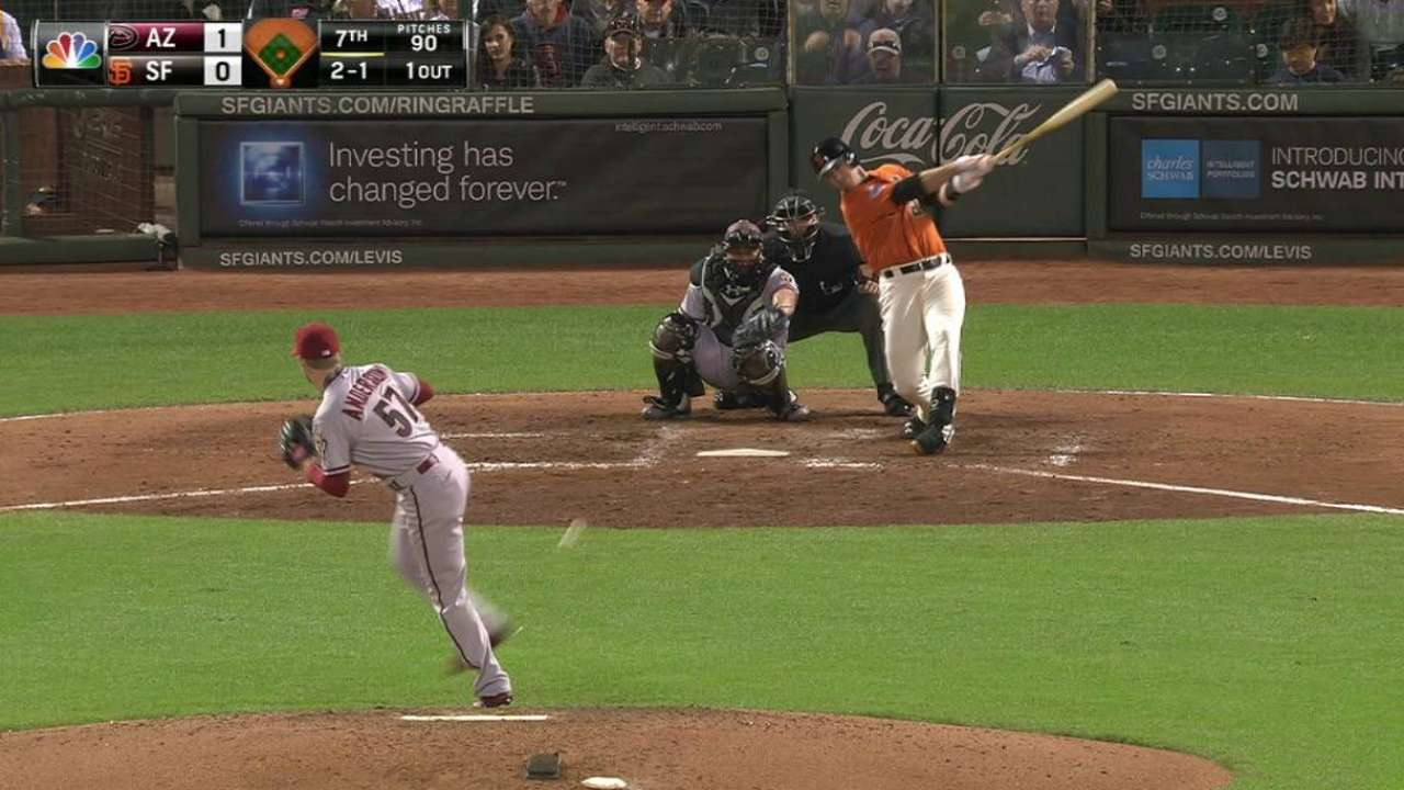 Posey breaks up no-hitter