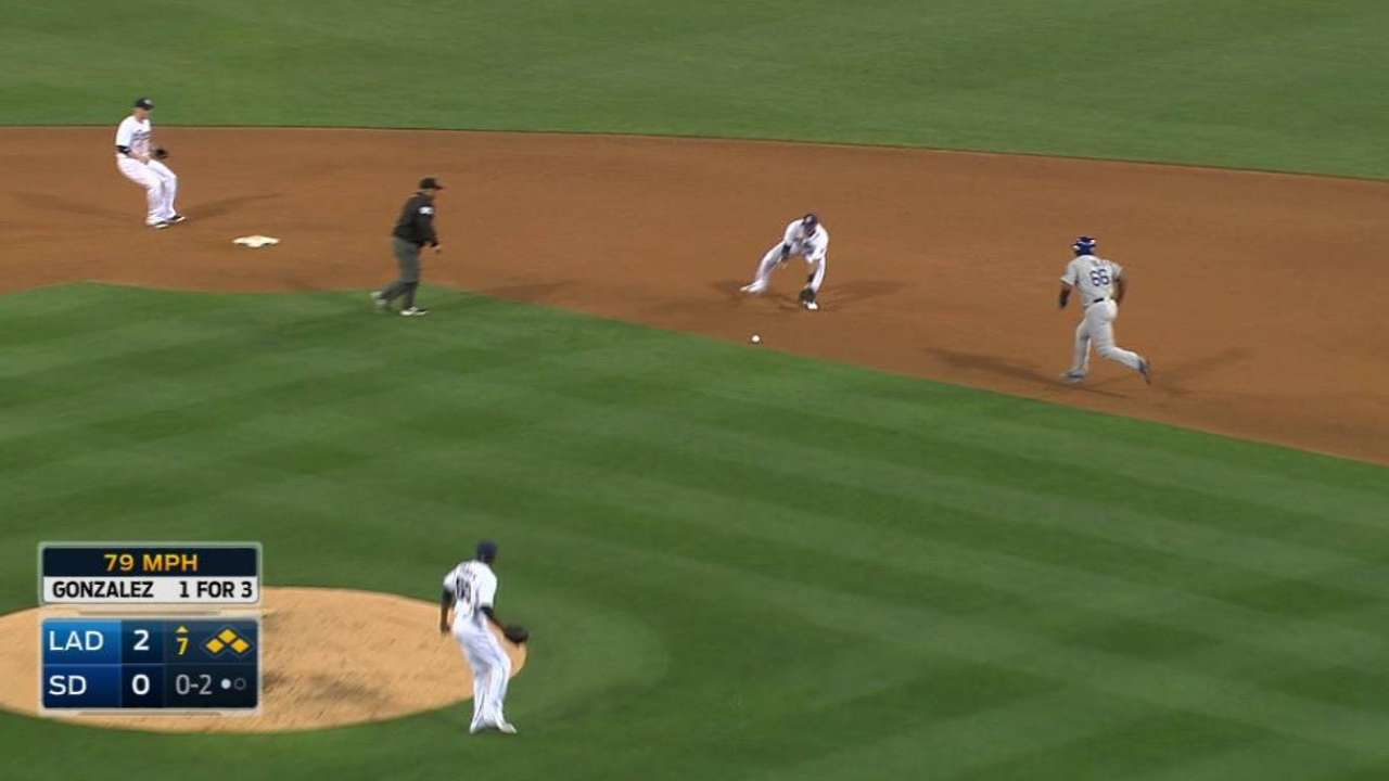Padres turn double play
