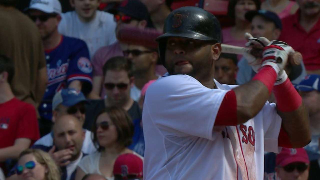 Sandoval strikes out, exits game