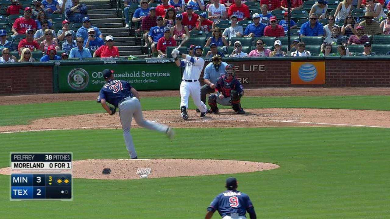 Moreland's RBI double