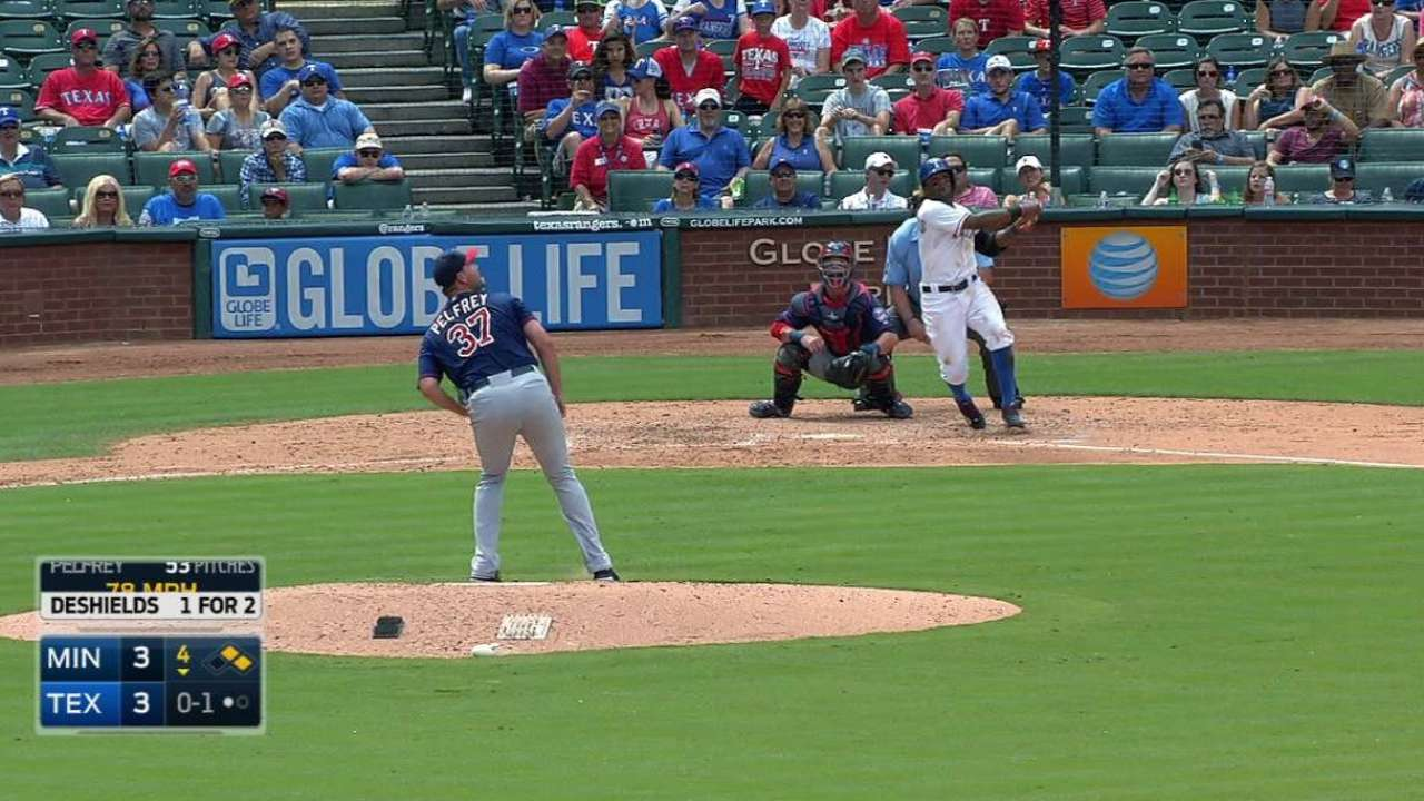 DeShields' RBI double