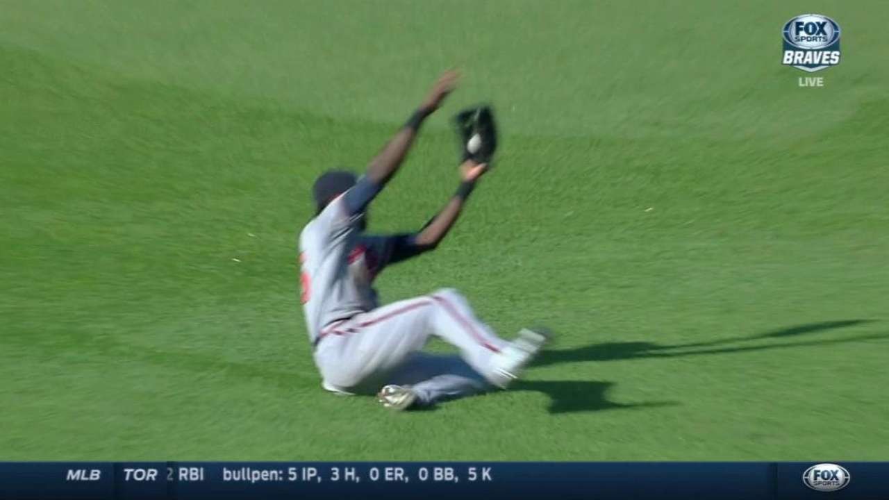 Maybin's sliding grab