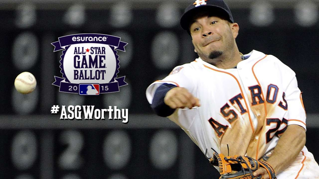 Altuve second in ASG balloting at second