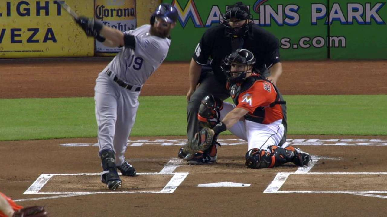 Rockies grab momentum from Marlins from get-go