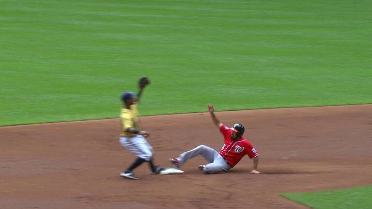 Gennett throws out Rendon