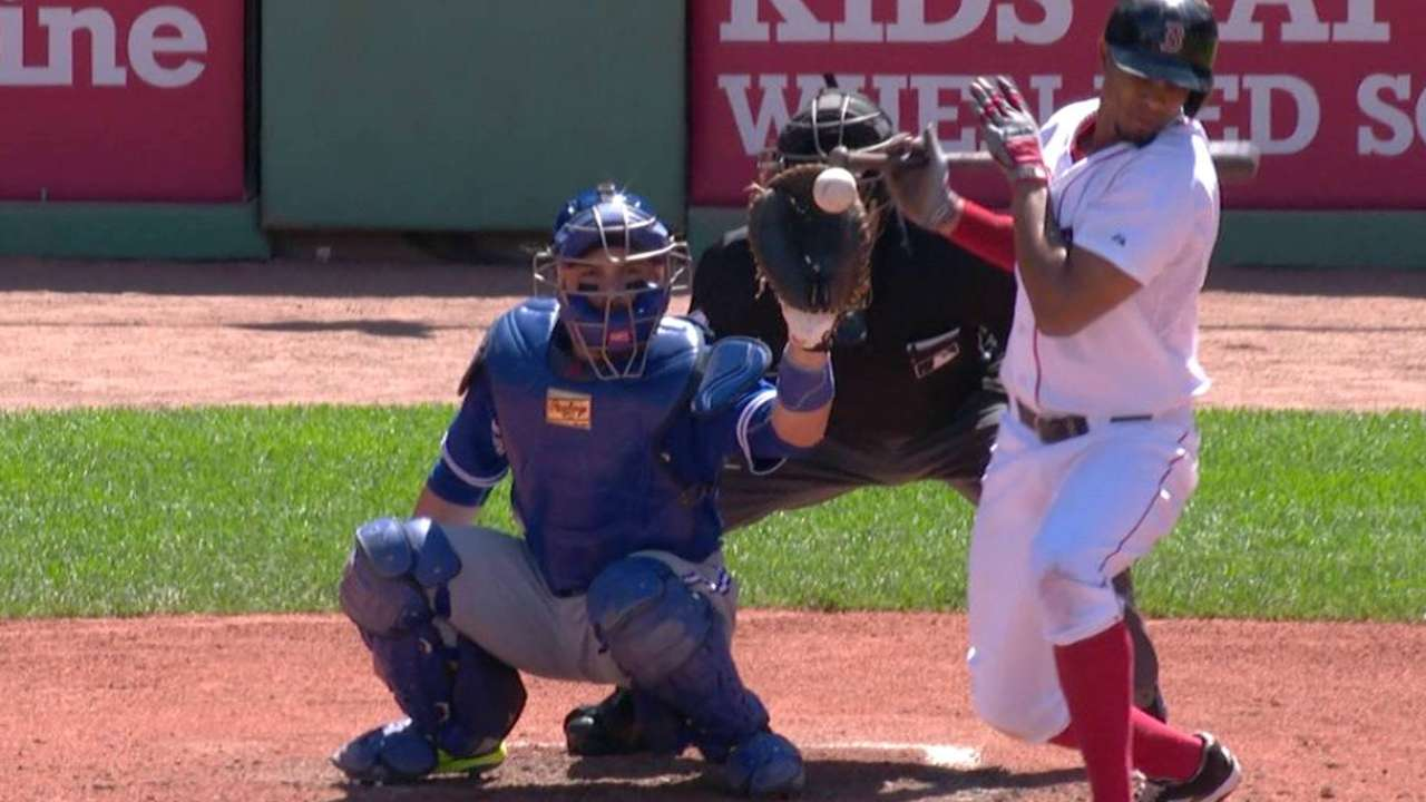 Bogaerts is not hit by a pitch