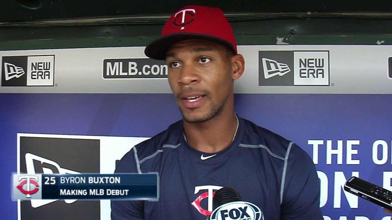 Buxton talks Major League debut