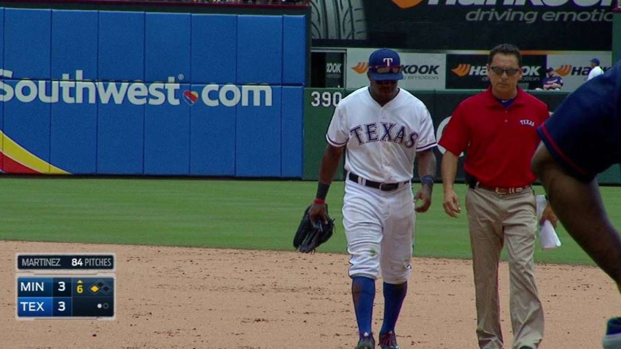 Rangers activate DeShields from DL, option Alberto