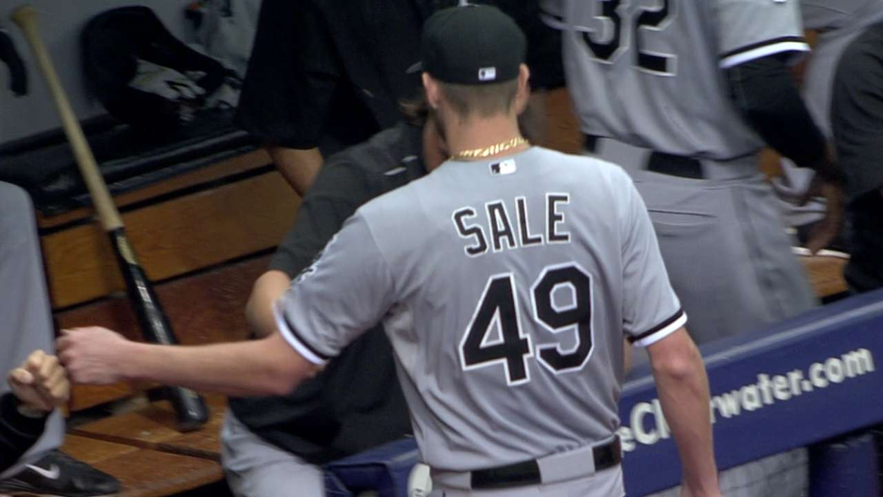 Sale blames himself for loss after 12-strikeout game