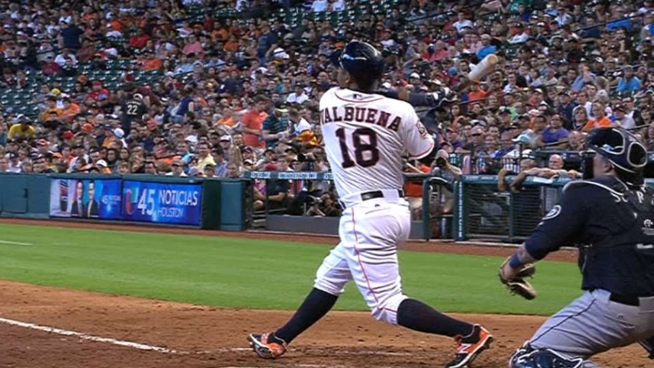 Booming bats, no-hit McCullers lift Astros over M's