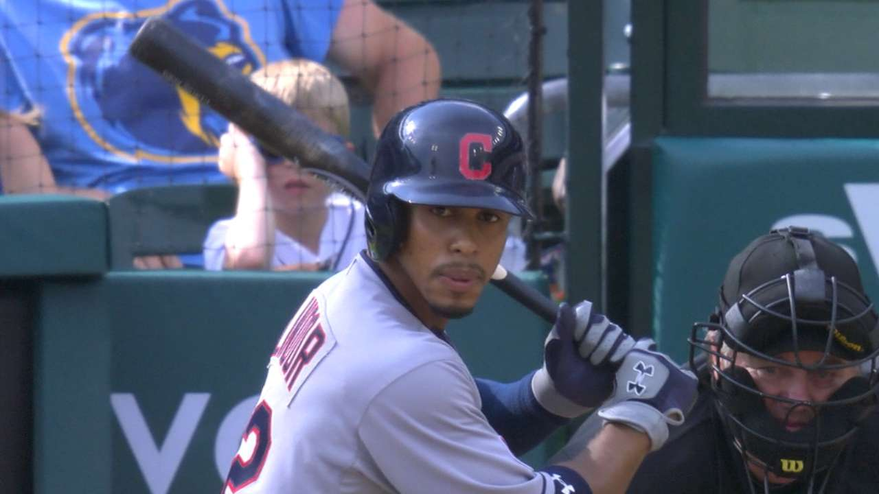 Lindor on first hit