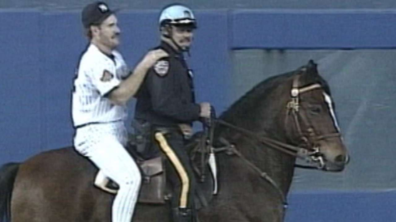 Boggs' victory lap on horseback