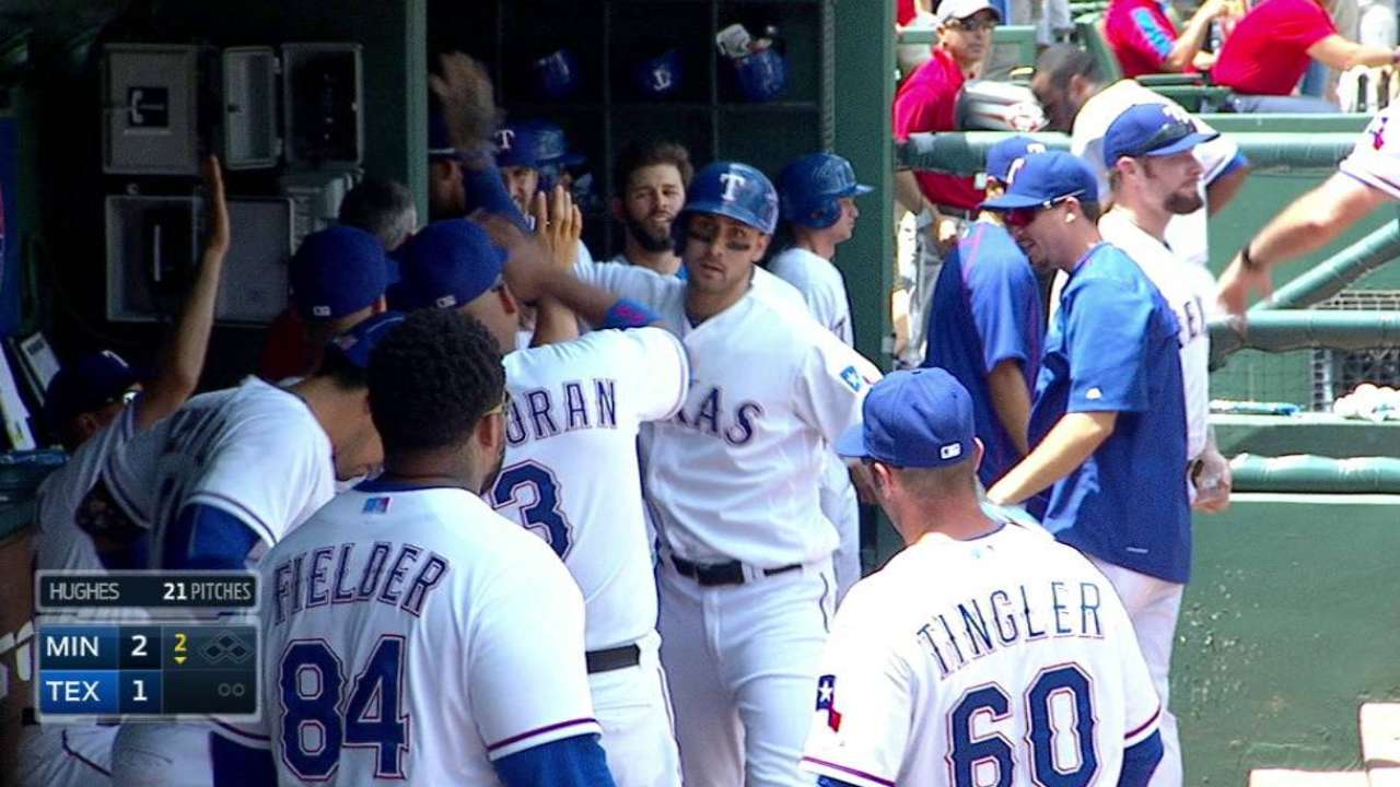 Gallo honing plate discipline in big leagues