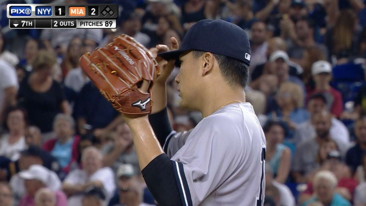 Tanaka holds Marlins to two runs