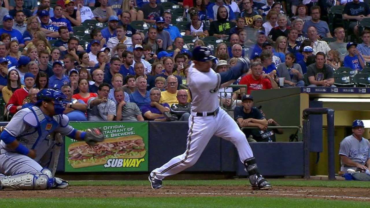 Lucroy's two-run double