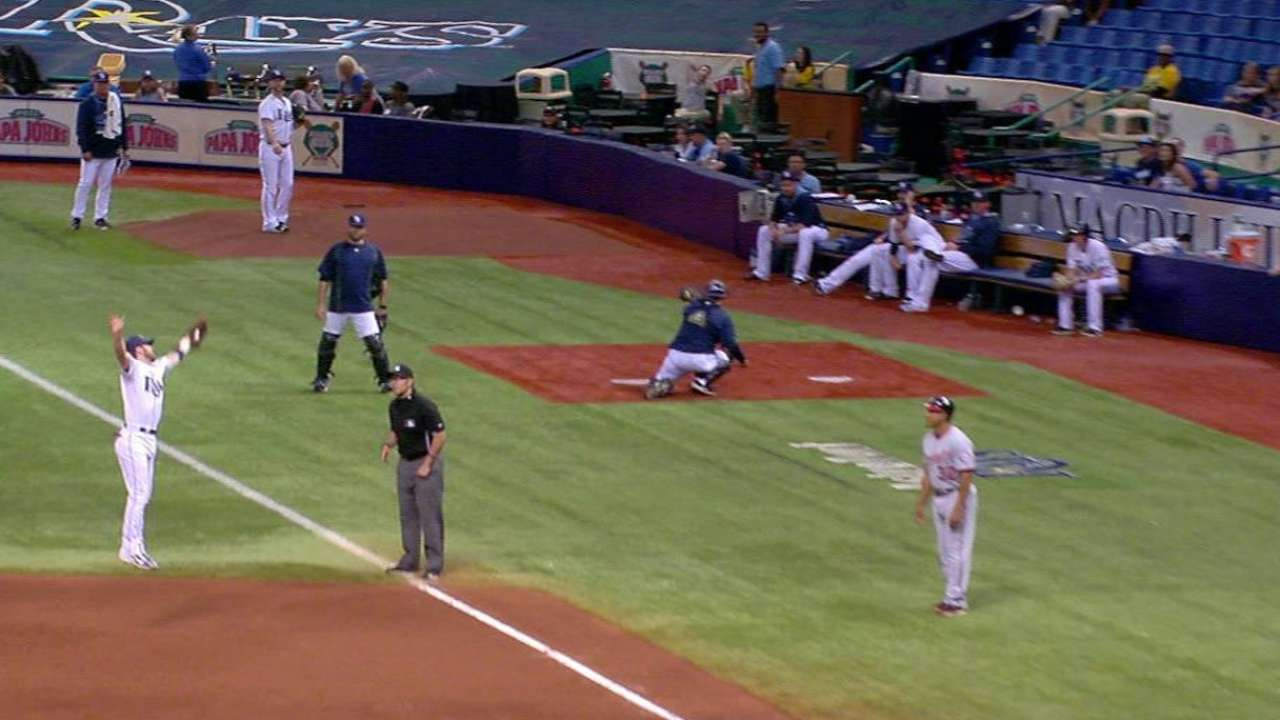 Rays turn two to end the game
