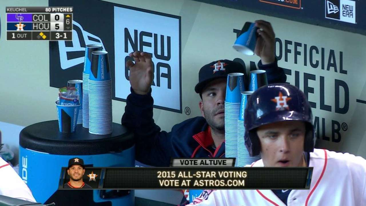 Altuve, Springer's All-Star bid