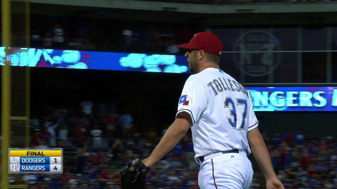 Tolleson officially given 'closer' title