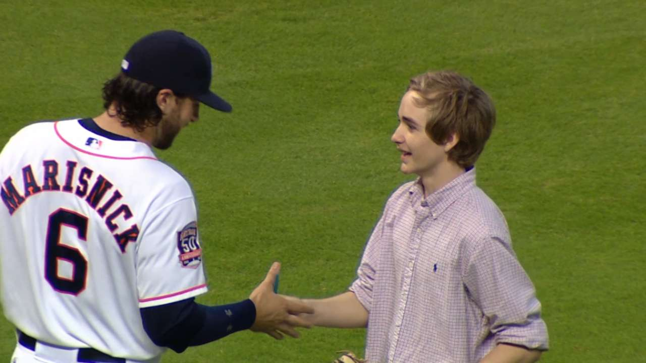 First pitch brings teenager back to mound