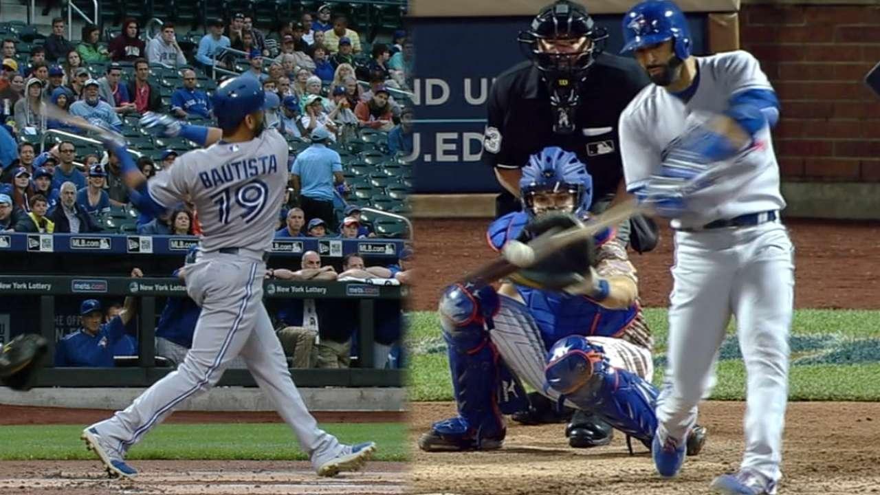Bautista's 2 HRs nearly save Blue Jays' streak