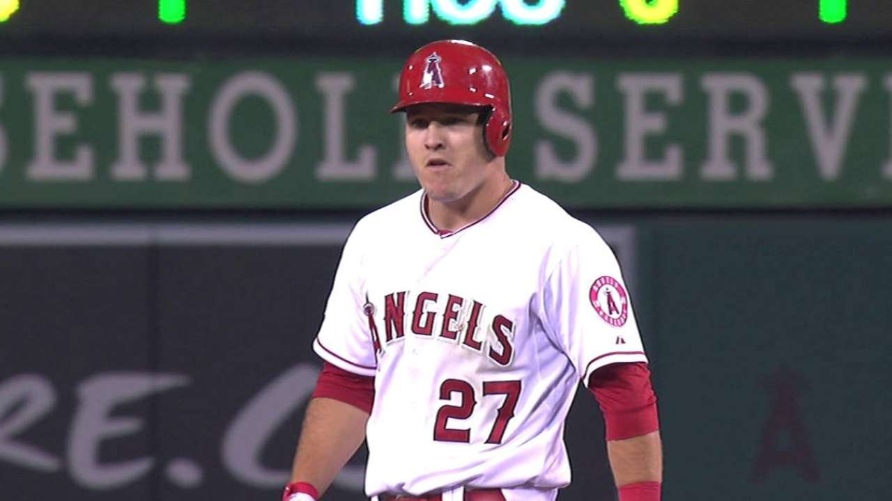 Trout slides back to three-hole, Pujols cleanup